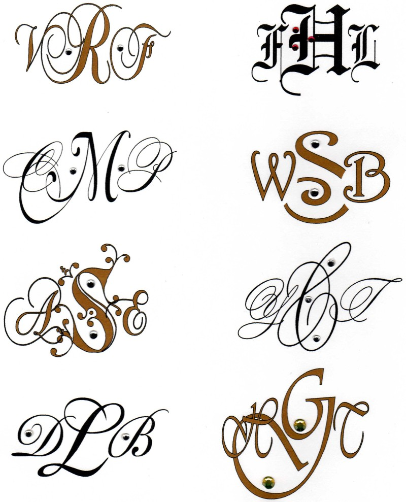 monogrammed note cards are available with three initials or with one